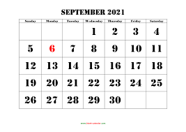 Printable September 2021 Calendar ...