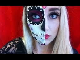 dia de los muertos half calavera makeup