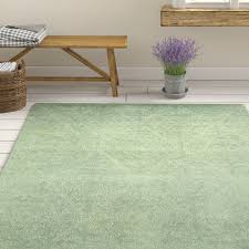 quayle hand tufted wool green area rug
