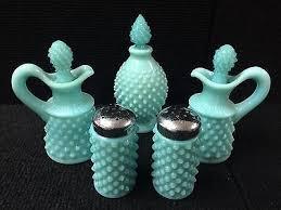 fenton hobnail aqua turquoise milk