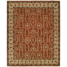 hand knotted allspice beige area rug