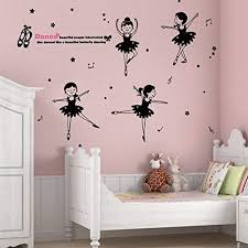 Amazon Com Home Find Kids Dance Wall Decor Pretty 5 Ballet Dancer Wall Decal Dance Quote Wall Decal Ballet Quote Sticker Girls Bedroom Teen College Dorm Kids Room Decal Girls Room Home