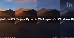 get macos mojave dynamic wallpapers on