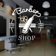 Barbershop Sticker Bread Decal Customized Vinyl Wall Art Decor Windows Decoration Haircut Shavers Glass Barber Shop Decals Windows Decoration Vinyl Wall Art Decalsshop Stickers Aliexpress