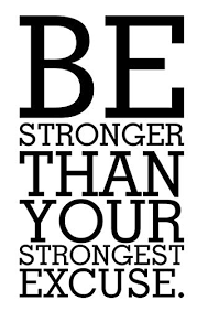 Be Stronger Than Your Strongest Excuse Health Training Motivation Workout Gym Fitness Sport Heart Life Family Love House Together Quotes Wall Vinyl Decals Stickers Art Decor Diy Buy Online In