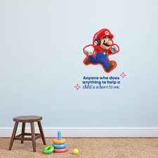 Design With Vinyl Hero Child Super Mario Life Cartoon Quotes Wall Decal Wayfair