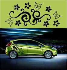 Floral Cars Bing Images Car Decals Flower Car Car Decals Vinyl