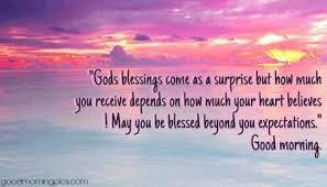 gods blessings come as a surprise com