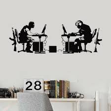 Gaming Vinyl Wall Decal Gamer Battle Video Game Wall Stickers Playroom Boys Room Teenagers Room Decoration Accessories X596 Wall Stickers Aliexpress