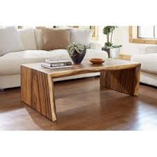 solid wood sled coffee table