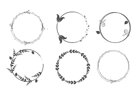 vector graphic circle frames wreaths