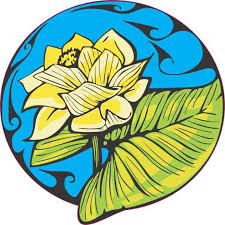 4in X 4in Blue Water Lily Sticker Vinyl Cup Decal Floral Car Bumper Decals Stickertalk