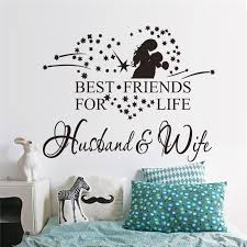 Best Friends For Life Husband Wife Vinyl Decal Wall Quote Words Lettering Sticker Inspirational Art Bedroom Mural Removable Diy Buy At The Price Of 1 58 In Aliexpress Com Imall Com