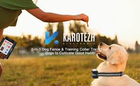 Electric Shock Collars Pet Fencing System Rechargeable Waterproof Receiver For Small Medium Large Dogs Indoor Outdoor Karotezh 2 In 1 Electric Dog Fence Training Collar Training Collars