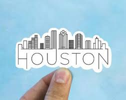 Houston Sticker Etsy