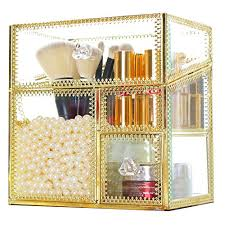 makeup organizer vintage mirror glass