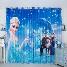 Personal Tailor 2pcs 200x260cm Drapery Panel Window Dressing Drape Wave Curtain Nursery Kids Children Room Blue Frozen Waves Curtains Drapery Panelchildren Room Aliexpress