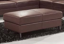 101 full leather ottoman brown by esf