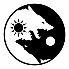 Ota Sticker Yin Yang Wolf Black White Size 7 5 Inch Decal Symbol For Car Window Ebay