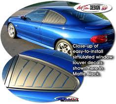 Simulated Window Louver Decal Set 1 For Pontiac Gto Holden Vauxhall Monaro Vxr8