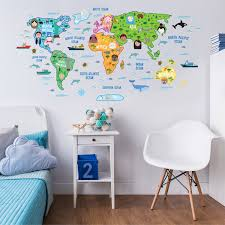 Shop Walplus Colorful World Map Wall Sticker Decal Kids Nursery Decor Decal Overstock 31768846