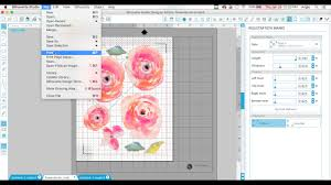 How To Print And Cut Vinyl Decals Watercolor Flower Decals Diy Youtube