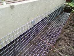 Wildlife Proof Fencing Works For Animals That Burrow Skunks Raccoons Great For Under Your Deck Shed Landscaping Building A Shed Backyard Sheds