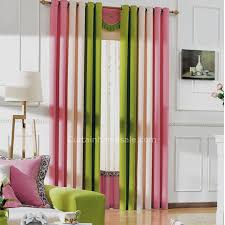 Pink And Green Curtains Bedroom Blackout Curtains