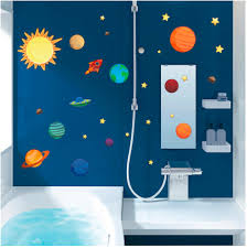 Kids Bedroom Decor Outer Space Planets Solar System Poster Mural Wall Stickers Home Garden Children S Bedroom Boy Decor Decals Stickers Vinyl Art