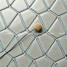 glazed diamond mosaic tile backsplash