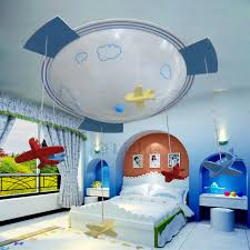 Plane Shaped 3 Light Glass Shade Kids Room Ceiling Light