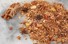 organic homemade granola cereal with