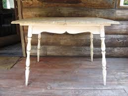 white painted farmhouse table shabby