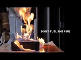 don t fuel the fire ethanol burner