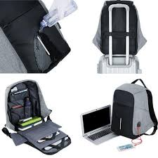 Men Anti theft Backpack USB Charging 15.6 Laptop Backpack ...