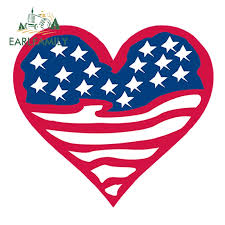 Earlfamily 13cm X 11 8cm American Flag Heart Funny Car Reflective Decal Stickers For Car Head Engine Cover Windows Decoration Car Stickers Aliexpress