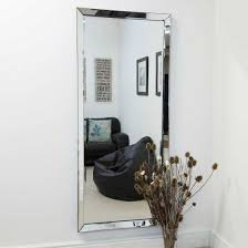 modern frameless wall mounted mirror