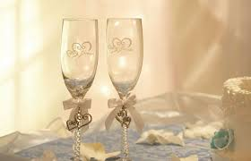 diy decorated champagne flute ideas