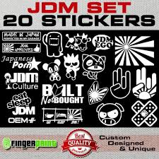 Jdm Decal Set Sticker Vinyl Stickerbomb Hella Illest Stance Low Life Honda Japan Jdm Stickers Sticker Bomb Jdm