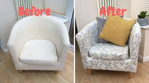 how to re cover an ikea tub chair you