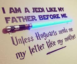 Star Wars Harry Potter Wall Decal