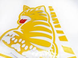 Rurumi Cat Sticker Tail Wiper Design Cat Car Decal Japanese Etsy