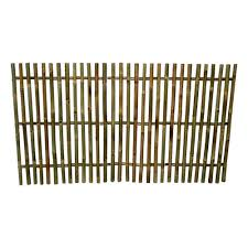Mgp 5 Ft L X 3 Ft H Bamboo Picket Rolled Fence Even Top Nbf 36e The Home Depot
