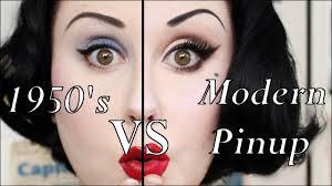 1950 s makeup vs modern pinup makeup