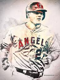 Mike Trout Los Angeles Angels Of Anaheim Anaheim Angels Baseball Mike Trout Angels Baseball