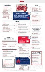 Jack's Lobster Shack & Oyster Bar menu ...