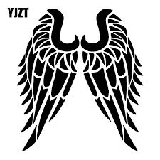 Yjzt 15 7x17 8cm Angel Wings Silhouette Trunk Window Vinyl Decal Car Sticker Decoration C25 0955 Car Stickers Aliexpress