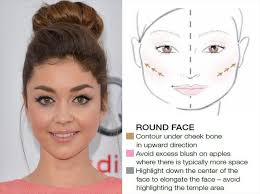 makeup tips for round face shape
