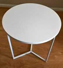 tesco metal side table white