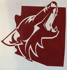 Arizona Coyotes Phoenix Nhl Hockey 2018 Yeti Cup Vinyl Decal Window Sticker Ebay